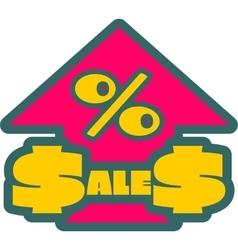 Sales grow up sticker vector image