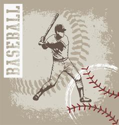 batter base ball vector image vector image