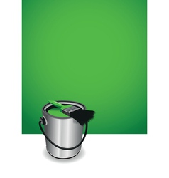 green paint pot background vector image
