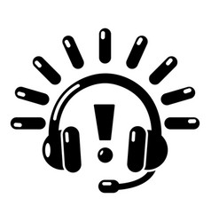 headphones icon simple black style vector image vector image
