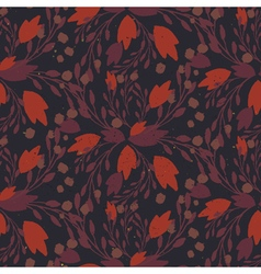 Organic floral pattern in muted warm colors vector image vector image