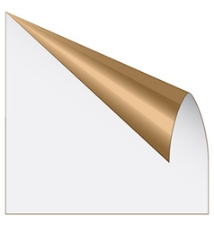 page corner with metallic backs vector image