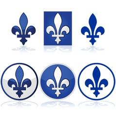 Quebec fleur-de-lys vector image vector image