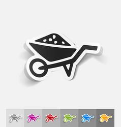 realistic design element garden wheelbarrow vector image vector image