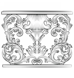 Rich Baroque Table vector image