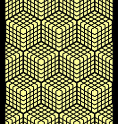 seamless geometric 3d pattern vector image