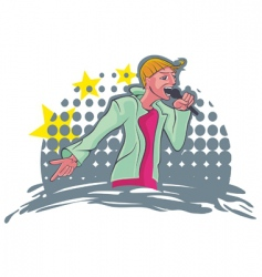 singing vector image vector image