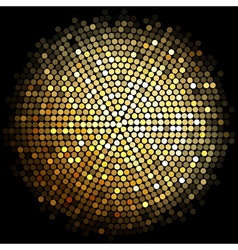 gold disco lights background vector image