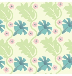 seamless abstract pattern with flowers vector image vector image