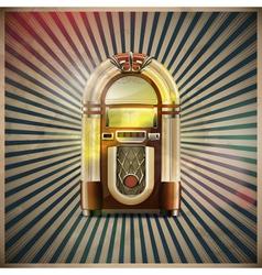 classic juke box vector image