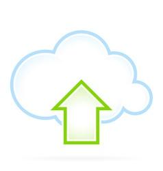 Cloud Computing Icon Upload vector image