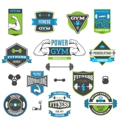Fitness And Sport Labels vector image