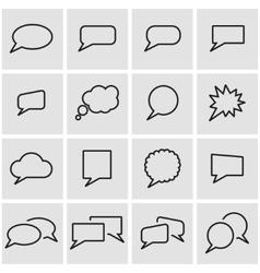 Line speach bubbles icon set vector