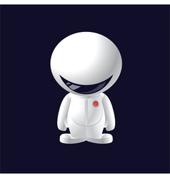 Little smile astronaut vector