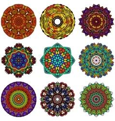Mandala Round Zentangle Ornament Pattern vector image vector image