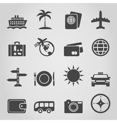 Travel an icon vector image