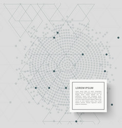 Abstract background with hexagon pattern and dots vector