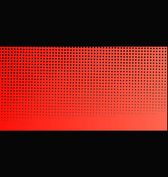 Abstract red halftone background vector