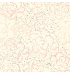 Abstract seamless flower texture vector