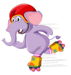An elephant playing roller skate vector