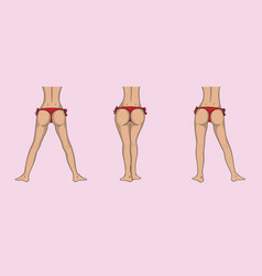 Attractive female ass and legs in different poses vector