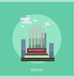Bekasi city of indonesia conceptual design vector