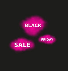 black friday is hot and smoke dark web banner for vector image