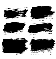 Black Paintbrush Backgrounds Set vector image