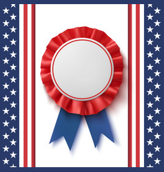 blank badge realistic patriotic blue and red vector image