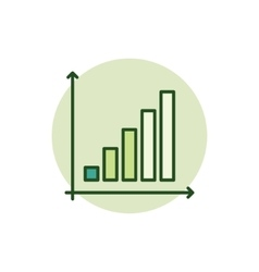 Business graph green icon vector