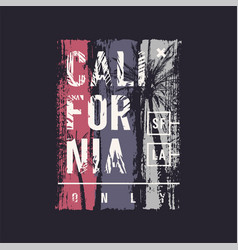 California only graphic t-shirt design vector