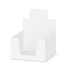 cardboard display box mock up - half-side view vector image