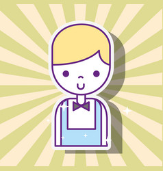 casino croupier male cartoon character retro style vector image