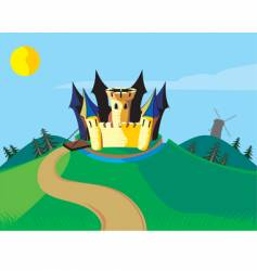 castle carton vector image