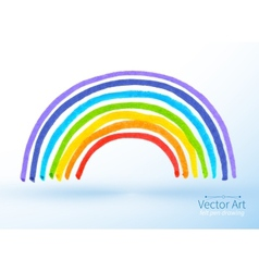 Childlike drawing of rainbow vector image vector image