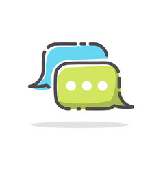 Chitchat app logo dialog bubble icon vector
