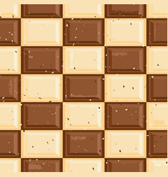 chocolate tablet checkers seamless pattern vector image