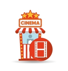 Cinema movie ticket office film strip graphic vector