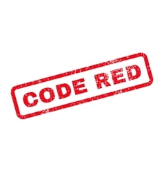 Code Red Text Rubber Stamp vector