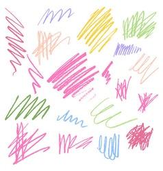 Color pencil texture vector