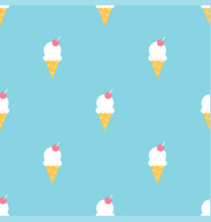 Colorful ice cream summer seamless pattern vector