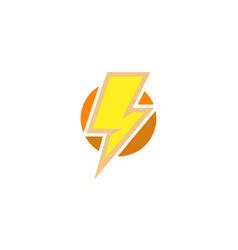 creative flash circle logo vector image