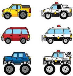 Cute Cars with Police version vector image