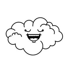 cute cloud kawaii character vector image
