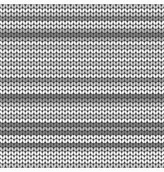 Dark Gray striped knitted background vector