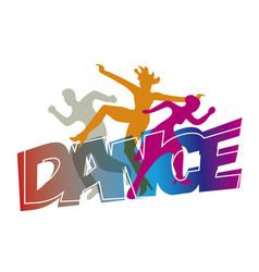 Disco modern dance dancers vector