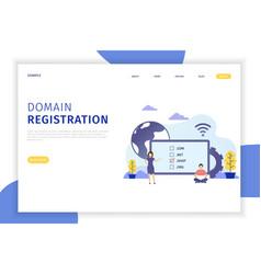 Domain registration concept vector