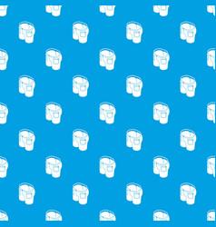 elegant jeans pattern seamless blue vector image