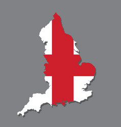 england flag and map on the grey background vector image