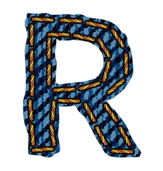 Farmerke tekstura slovo R resize vector image